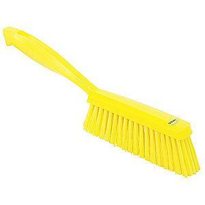 "Vikan 14"" Polyester Short Handle Bench Brush, Yellow"