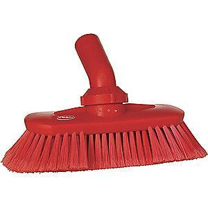 "Vikan 9-1/4"" Polyester Replacement Brush Head Scrub Brush, Red"