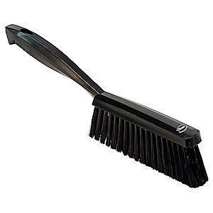 "Vikan 14"" Polyester Short Handle Bench Brush, Black"