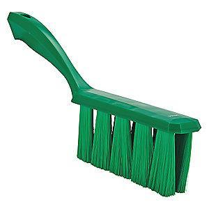 "Vikan 13"" Polyester Short Handle Bench Brush, Green"