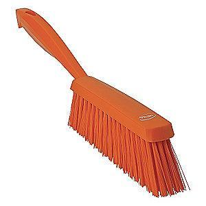 "Vikan 14"" Polyester Short Handle Bench Brush, Orange"