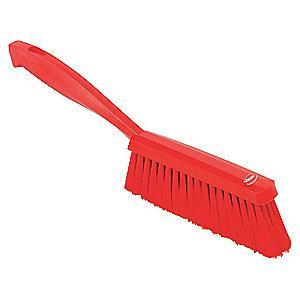 "Vikan 14"" Polyester Short Handle Bench Brush, Red"