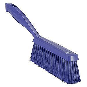 "Vikan 14"" Polyester Short Handle Bench Brush, Purple"