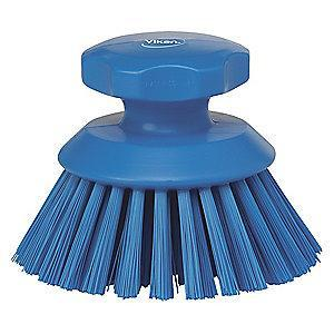 "Vikan 5"" Polyester Short Handle Scrub Brush, Blue"