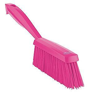 "Vikan 14"" Polyester Short Handle Bench Brush, Pink"