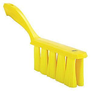 "Vikan 13"" Polyester Short Handle Bench Brush, Yellow"