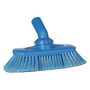"Vikan 9-1/4"" Polyester Replacement Brush Head Scrub Brush, Blue"