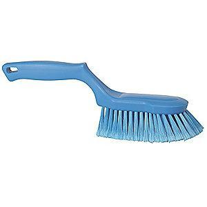 "Vikan 12-1/2"" Polyester Block Scrub Brush, Blue"