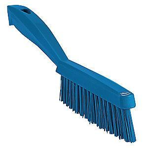 "Vikan 11-51/64"" Polyester Short Handle Scrub Brush, Blue"