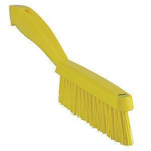 "Vikan 11-51/64"" Polyester Short Handle Scrub Brush, Yellow"