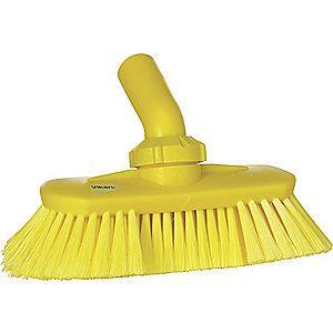 "Vikan 9-1/4"" Polyester Replacement Brush Head Scrub Brush, Yellow"