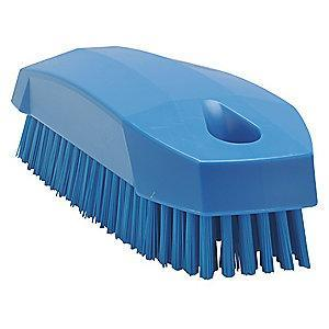 "Vikan 4-57/64"" Polyester Block Hand and Nail Brush, Blue"