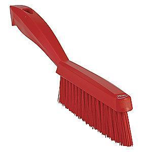 "Vikan 11-51/64"" Polyester Short Handle Scrub Brush, Red"