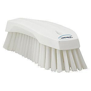 "Vikan 7-1/2"" Polyester Block Scrub Brush, White"