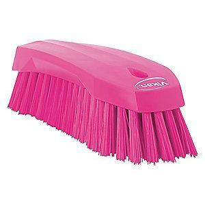 "Vikan 7-1/2"" Polyester Block Scrub Brush, Pink"