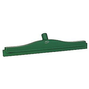 "Vikan 20"" Straight Double Rubber Floor Squeegee Without Handle, Green"