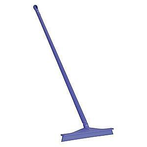 "Vikan 24"" Straight Rubber Floor Squeegee With Handle, Purple"