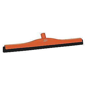 "Vikan 24"" Straight Double Foam Rubber Floor Squeegee Without Handle, Orange"