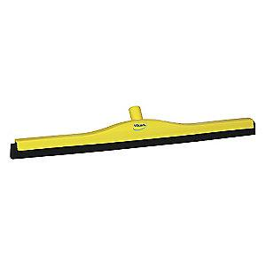"Vikan 28"" Straight Double Foam Rubber Floor Squeegee Without Handle, Yellow"