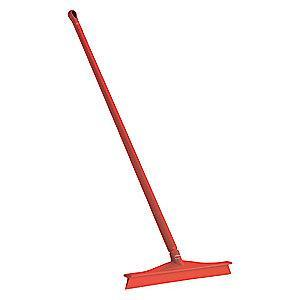 "Vikan 20"" Straight Rubber Floor Squeegee With Handle, Red"