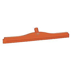 "Vikan 24"" Straight Double Rubber Floor Squeegee Without Handle, Orange"