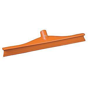 "Vikan 16"" Straight Rubber Floor Squeegee Without Handle, Orange"