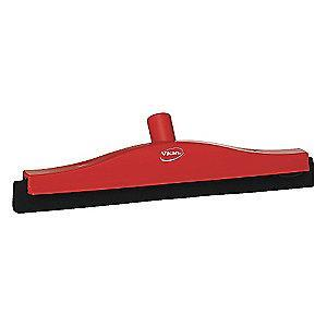 "Vikan 16"" Straight Double TPE Rubber Floor Squeegee Without Handle, Red"