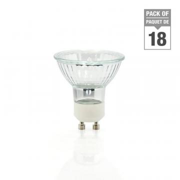Philips Halogen 50W GU10 Flood - Case of 18 Bulbs