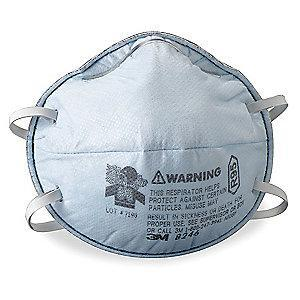 3M R95 Disposable Particulate Respirator, Blue, Universal, 20PK