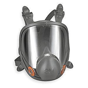 3M Bayonet Connection Low Maintenance Full Face Respirator, 4 Point Suspension, L