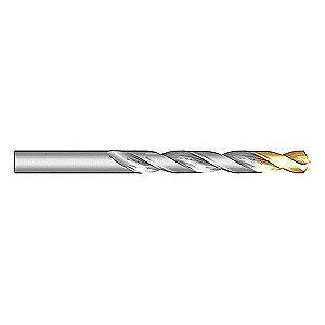 "Dormer Jobber Drill Bit, 19/64"", High Speed Steel, TiN, A012"