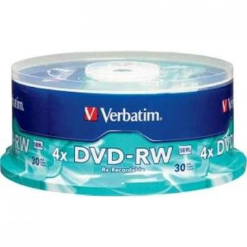 Verbatim DVD-RW 4.7GB 4x with Branded Surface 30-Pack Spindle