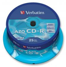 Verbatim 52x Speed CD-R AZO Blank CDs - 25 Pack Spindle