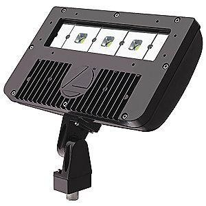 Lithonia 5696 Lumens LED Floodlight, Dark Bronze, Replacement For 100W HPS/MH