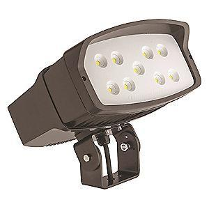 Lithonia 10,000 Lumens LED Floodlight, TGIC Thermoset Powder Coated, Dark Bronze Gloss