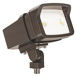 Lithonia 2137 Lumens LED Floodlight, TGIC Thermoset Powder Coated, Dark Bronze Gloss