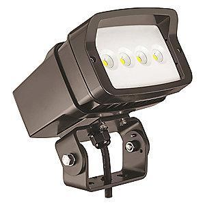 Lithonia 3979 Lumens LED Floodlight, TGIC Thermoset Powder Coated, Dark Bronze Gloss