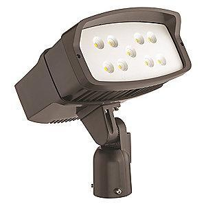 Lithonia 10,260 Lumens LED Floodlight, TGIC Thermoset Powder Coated, Dark Bronze Gloss