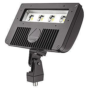 Lithonia 10,680 Lumens LED Floodlight, TGIC Thermoset Powder Coated, Replacement For 250W HPS/MH