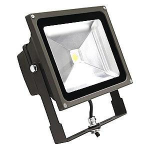 Lumapro 4010 Lumens LED Floodlight, Bronze, Replacement For 150W QH