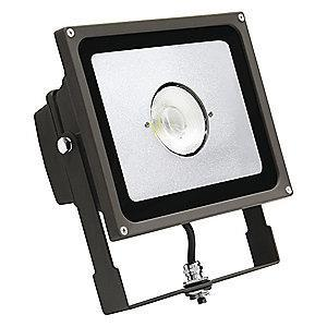 Lumapro 3705 Lumens LED Floodlight, Bronze, Replacement For 150W QH