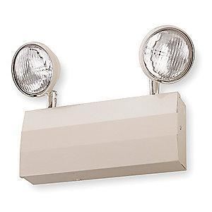 Lithonia 120/277V Halogen Emergency Light, 12.0W, Beige Steel, Lead Calcium Battery Chemistry