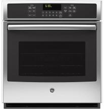 "GE 4.3 cu. ft. 27"" Electric Convection Self-Cleaning Single Wall Oven in Stainless Steel"