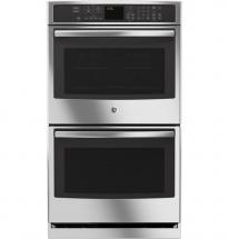 GE 10 cu. ft. Electric Convection Self-Cleaning Double Wall Oven in Stainless Steel