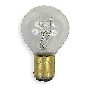 GE Trade Number 15S11/3DC, 15.0W Miniature Incandescent Bulb, S11, Double Contact Bayonet (BA15d)