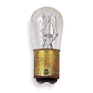 GE 10.0W Incandescent Lamp, S6, Double Contact Bayonet (BA15d), 66 Lumens, 3000K