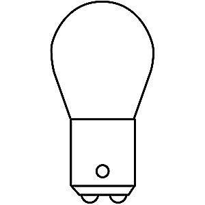 GE Trade Number 1612, 10.0W Miniature Incandescent Bulb, S8, Double Contact Bayonet (BA15d)