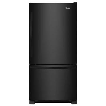 Whirlpool 22.1 cu. ft. Refrigerator with Bottom Mount Freezer and SpillGuard Glass Shelves in Black