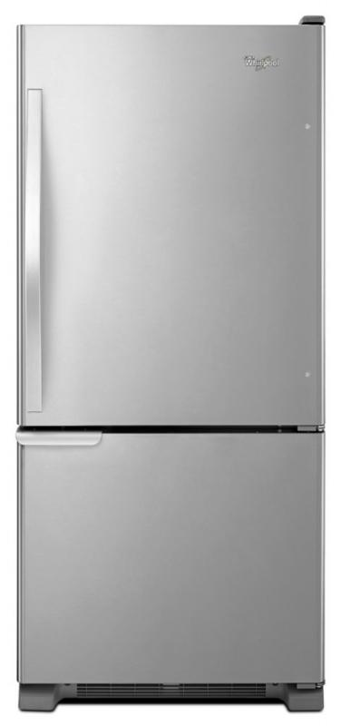 Whirlpool 18.7 cu. ft. Refrigerator with Bottom Mount Freezer and Accu-Chill System in Stainless