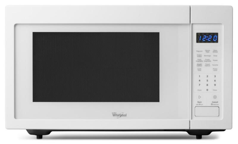 Whirlpool 1.6 cu. ft. Countertop Microwave Oven with Optional Built-In Trim Kit in White